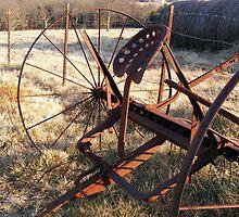 Rusty Hay Rake by shimschoot