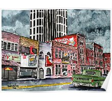 Nashville Tennessee country music art Poster