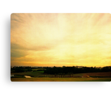 one golden sky Canvas Print