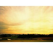 one golden sky Photographic Print