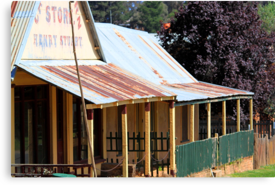 Living history - the general store at the old gold mining town of Hill End. by GeoffSporne