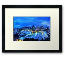 Right Place Right Time - Moods Of A City - The HDR Experience Framed Print