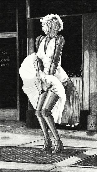 """Marilyn Monroe Robot"" by peabody00 