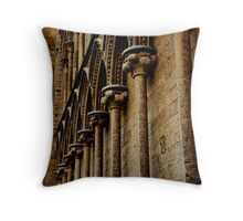 Stone work of Ely Cathedral Throw Pillow