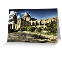 Mission San José y San Miguel de Aguayo Greeting Card