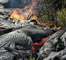 Lava and fire. by Hannah Fenton-Williams