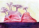 Purple Bonsai Island by Mui-Ling Teh