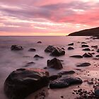 stoer bay sunset in beautiful assynt. by highlandscot
