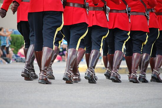 Canada Day Parade - Leduc RCMP by Roxanne Persson