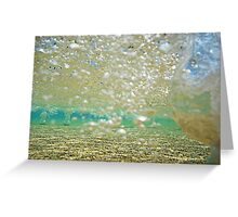 Bubbles Below Greeting Card