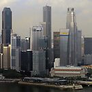 Singapore Skyline Panorama.  by Tridib Ghosh