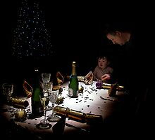 Laying Table for Xmas Dinner by Sue Smith