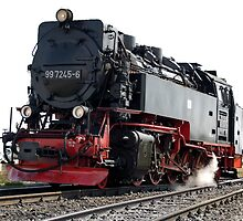 Steam locomotive of the class 99 of Harzer Schmallspurbahn. by trainmaniac