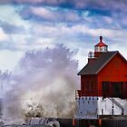 Big Wave Lighthouse by Peter Thorpe