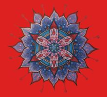 Mandala Tee, Hoodie, Sticker : Red Heart Passion  by danita clark