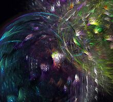 Peacocks At Night by Vanessa Barklay