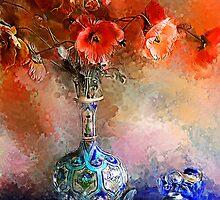 Poppies and Glass Marbles by Helen Chierego