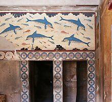 Dolphins [1600BC-Minoan Frescos, Crete] by George Parapadakis (monocotylidono)