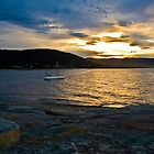 Bicheno bay at dusk by doug hunwick