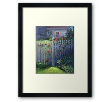 Clematis on a Picket Fence Framed Print