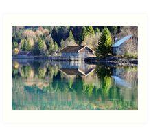 Lake Walchensee Reflections Art Print