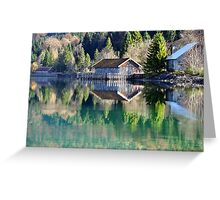 Lake Walchensee Reflections Greeting Card