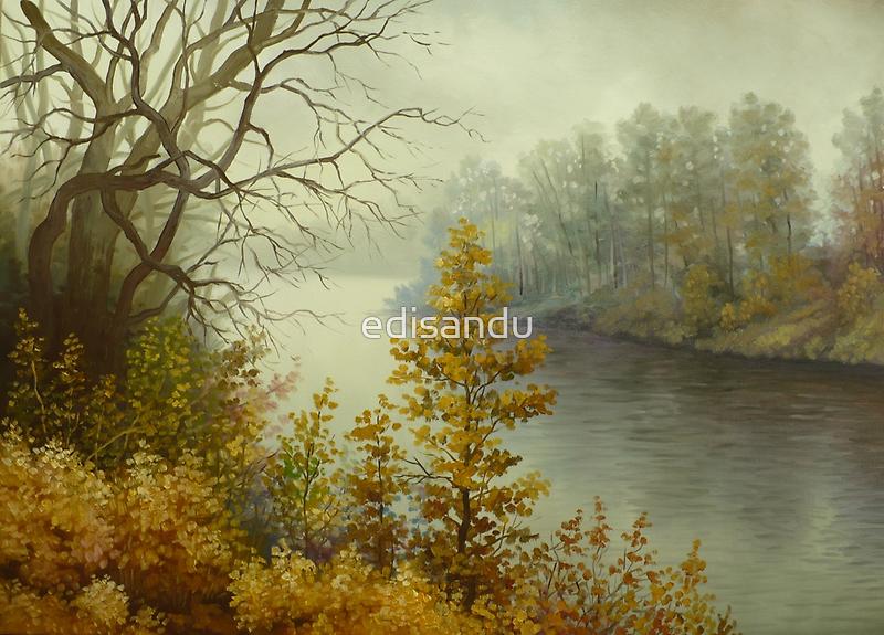 autumn landscape by edisandu