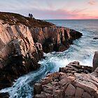 Red Rock Cliffs - Little Moose Island by Patrick Downey