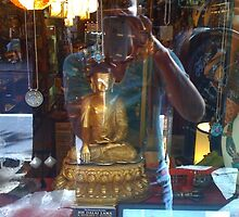 Tibetan Store Reflection - MacDougal Street, Greenwich Village by SylviaS