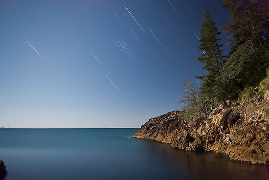 Coromandel Coast at night by Paul Mercer