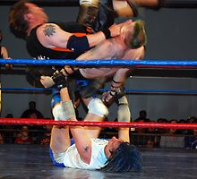 3 way wrestle by Juanita Arnold