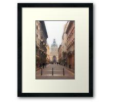 Streets of Budapest Framed Print
