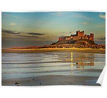 Bamburgh Castle Dusk Poster