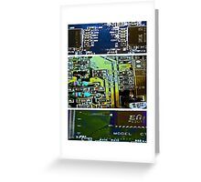 Circuit Triptych Greeting Card