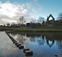 The River Wharfe and Bolton Priory by WatscapePhoto
