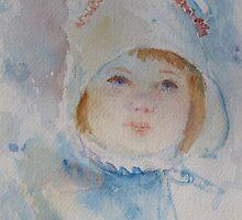 Little Girl With Bonnet by Doris Currier