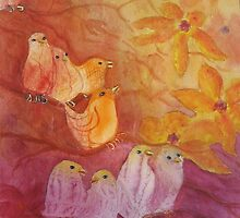 Fantasy Birds by Doris Currier