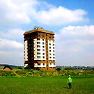 Boy and Tower Block by sidfletcher