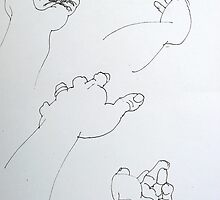 Hand Studies by Richard  Tuvey