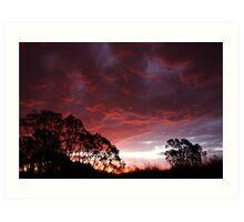 Roaring Sunset Art Print