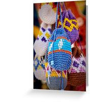 Knitted Pouches Greeting Card