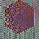 Silicon Atoms HyperCube Blue Purple Red by atomicshop