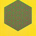 Silicon Atoms HyperCube Yellow Green Red by atomicshop