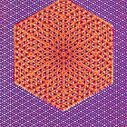 Silicon Atoms HyperCube Purple Orange by atomicshop