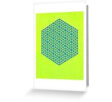 Silicon Atoms HyperCube Yellow Blue Greeting Card
