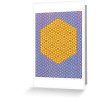 Silicon Atoms HyperCube Blue Orange Greeting Card
