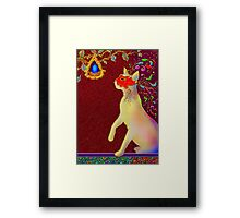 'ROMEO CAT'  Impetuous Fire, Ice and Desire. Framed Print