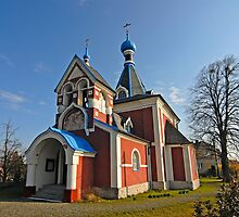 Picturesque Eastern Orthodox Christian Church, Czech Republic  by Petr Svarc