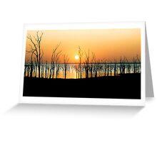 Kariba sunrise Greeting Card