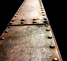Train trestle bolts  by Celticrow